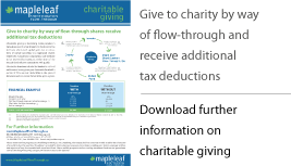 Download further information on charitable giving